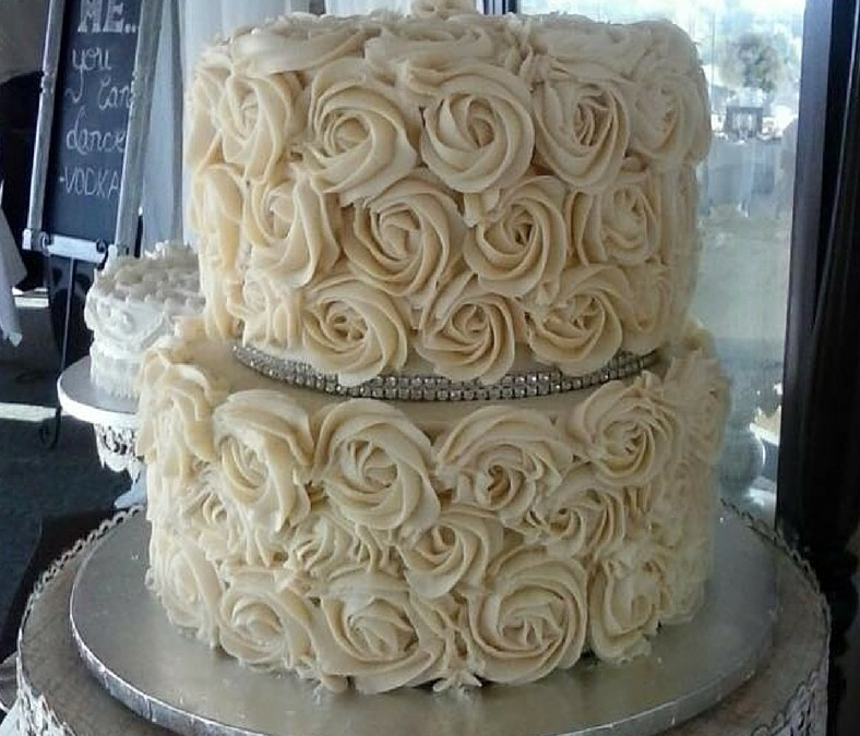 Wedding Flower Cake 46 - Oh 4 Goodness Cakes - Susan Hokansen - Custom Cakes Lakeland Florida - Central Florida - Custom Pastries