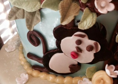 Monkey Forest Cake 45 - Oh 4 Goodness Cakes - Susan Hokansen - Custom Cakes Lakeland Florida - Central Florida - Custom Pastries
